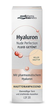 Hyaluron Nude Perfection Getöntes Fluid heller Hauttyp LSF 20 50ml